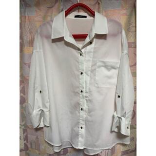 デュラス(DURAS)の白色七分袖シャツ(シャツ/ブラウス(長袖/七分))