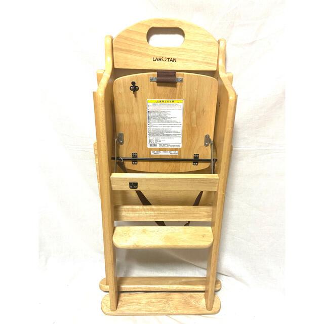 KATOJI(カトージ)の♦︎状態良好♦︎ KATOJI カトージ 木製ハイチェア ラルタン ベビーチェア キッズ/ベビー/マタニティの寝具/家具(その他)の商品写真