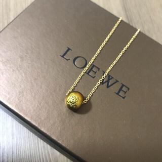 LOEWE - [正規ー未使用]ロエベのボタン型チャーム/ネックレスチェーン ゴールド色