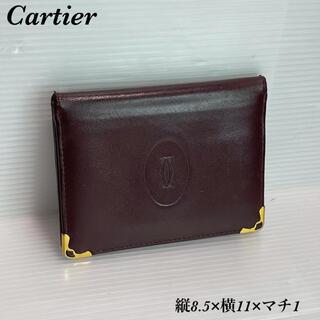 カルティエ(Cartier)の良品!カルティエ Cartier パスケース カード入れ 定期入れ 名刺入れ(名刺入れ/定期入れ)