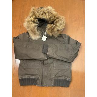 ボンポワン(Bonpoint)のBonpoint リアルファー付き中綿いりの防風防寒コート 8歳(ジャケット/上着)