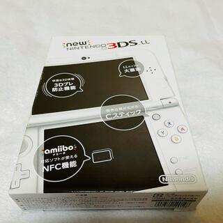 ニンテンドウ(任天堂)の新品同様 本体未使用 Newニンテンドー3DS LL  パールホワイト 任天堂(家庭用ゲーム機本体)