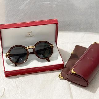 カルティエ(Cartier)の【超希少】Cartier カルティエ 18Kウッドサングラス 1991年製(サングラス/メガネ)