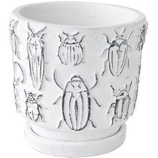 SPICE OF LIFE: 植木鉢 昆虫 ホワイト Lサイズ(その他)