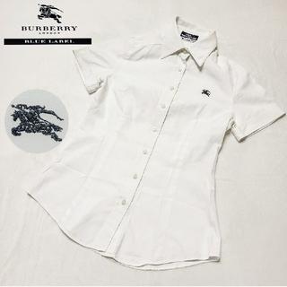 バーバリーブルーレーベル(BURBERRY BLUE LABEL)のBURBERRY バーバリー ブルー レーベル ポロシャツ ワンポイント ロゴ(ポロシャツ)