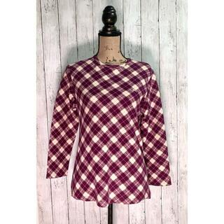 バーバリー(BURBERRY)の美品 バーバリーロンドン (M) 長袖シャツ Tシャツ ノバチェック(カットソー(長袖/七分))