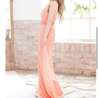 エンジェルアール(AngelR)のララチュール ロングドレス キャバドレス ウエストパール ノースリーブ(ナイトドレス)