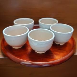 萩焼 天鵬山造 湯呑5客 茶托(食器)