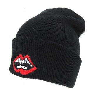 クロムハーツ(Chrome Hearts)のクロムハーツ マッティボーイ ニットキャップ ビーニー ロゴ刺繍 ニット帽 黒(ニット帽/ビーニー)