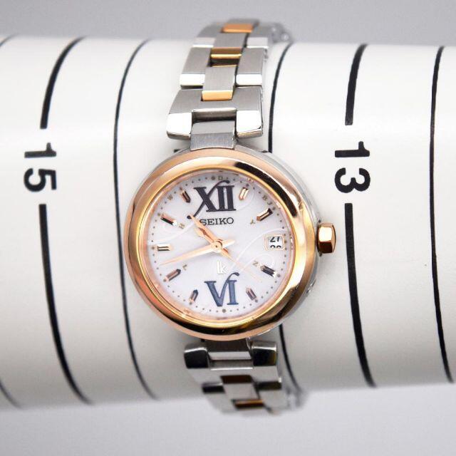 seiko(セイコー)の《美品》seiko lukia 腕時計 ピンクゴールド 電波ソーラー デイト レディースのファッション小物(腕時計)の商品写真
