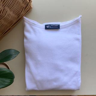 セントジェームス(SAINT JAMES)の美品 SAINT JAMES セントジェームス ウエッソン 無地 ホワイト T5(Tシャツ(長袖/七分))