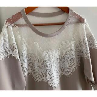 ダブルスタンダードクロージング(DOUBLE STANDARD CLOTHING)のDOUBLE STANDARD CLOTHING16,500円レースプルオーバー(Tシャツ(半袖/袖なし))