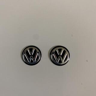 フォルクスワーゲン(Volkswagen)のフォルクスワーゲン  エンブレム 黒2個(車外アクセサリ)