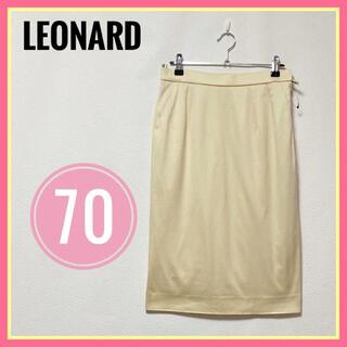 レオナール(LEONARD)の新品未使用品✨美品✨レオナール スカート タイトスカート クリーム色 M 刺繍(ひざ丈スカート)