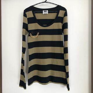 スライ(SLY)のSLY 長袖トップス ロンT ロングTシャツ サイズ1 S ボーダー レディース(Tシャツ(長袖/七分))
