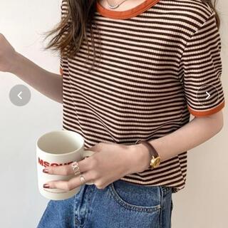 レイジブルー(RAGEBLUE)のABITOKYO配色パイピングカットソーボーダーTee(Tシャツ(半袖/袖なし))