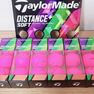 テーラーメイド(TaylorMade)のテーラーメイド ディスタンス+ ソフト ゴルフボール マッドピンクのみ 18個(ゴルフ)