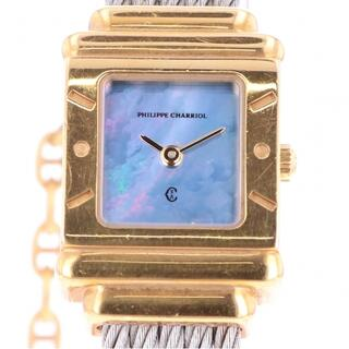 シャリオール(CHARRIOL)のシャリオール サントロペスクエア 7007902 クォーツ レディース 【中古】(腕時計)