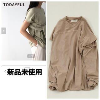 トゥデイフル(TODAYFUL)の新品未使用 TODAYFUL  スリーブスリット ロングTシャツ(Tシャツ(長袖/七分))