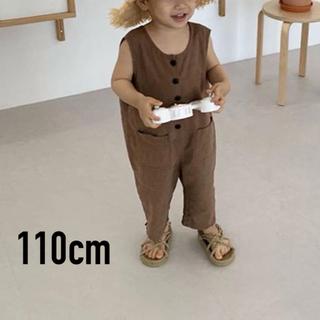 シマムラ(しまむら)の新品 送料無料 韓国 子供服 オーバーオール 110 ブラウン(その他)
