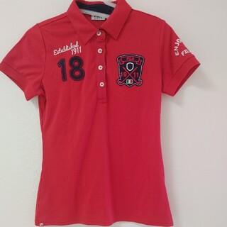 フィラ(FILA)のレディース  ゴルフウェア 半袖 ポロシャツ FILAGOLF 赤(ポロシャツ)