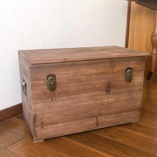 アンティーク調 ウッドボックス 木箱 蓋付き 収納ボックス(リビング収納)