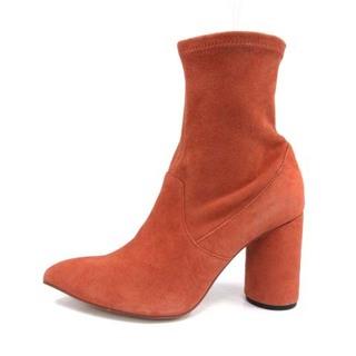 グレースコンチネンタル(GRACE CONTINENTAL)のグレースコンチネンタル ショートブーツ フェイクスエード 38 24.5cm 赤(ブーツ)