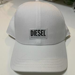 ディーゼル(DIESEL)のディーゼル 美品 キャップ ホワイト(キャップ)