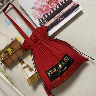ピンクハウス(PINK HOUSE)の新品タグ付 PINK HOUSE 巾着 トートバッグ(トートバッグ)