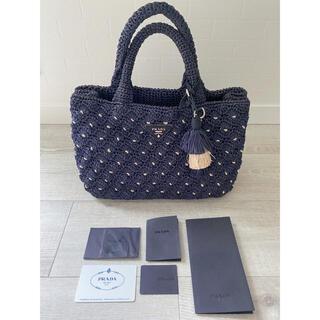 PRADA - 正規品 美品 PRADA プラダ カナパS ラフィア カゴバック ハンドバッグ