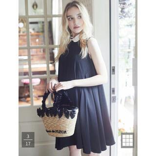メゾンドフルール(Maison de FLEUR)のsweetコラボ パール襟ノースリーブドレス メゾンドフルール(ひざ丈ワンピース)