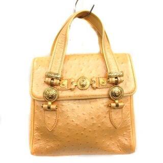 ジャンニヴェルサーチ(Gianni Versace)のジャンニヴェルサーチ ヴェルサーチェ ハンドバッグ トートバッグ ベージュ(トートバッグ)
