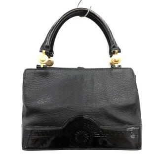 ジャンニヴェルサーチ(Gianni Versace)のジャンニヴェルサーチ ヴェルサーチェ ハンドバッグ トートバッグ 太陽 黒(トートバッグ)
