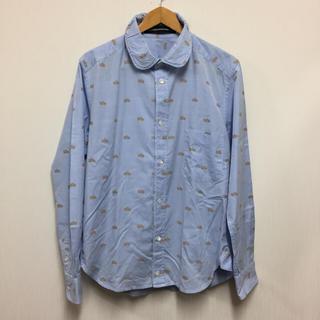 メルシーボークー(mercibeaucoup)のメルシーボークー 丸襟総ロゴ刺繍長袖シャツ3(シャツ)