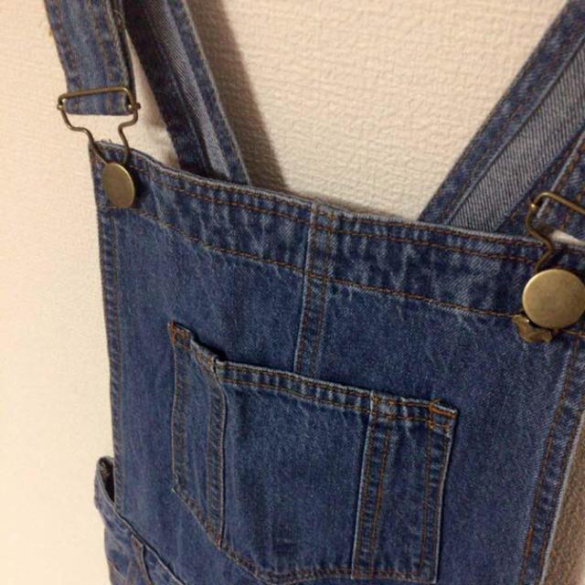 GRL(グレイル)の【U-Na様専用】オーバーオール デニム ダークブルー 青 レディースのパンツ(サロペット/オーバーオール)の商品写真