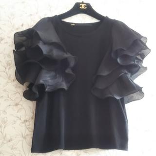 ヨシオクボ(yoshio kubo)のミュラー♡フレアスリーブTシャツ 袖フリル  フレイアイディー スナイデル(Tシャツ(半袖/袖なし))