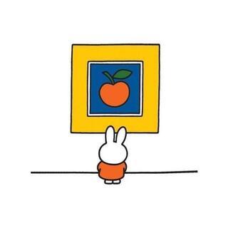 【ブルーナミニポスター006】うさこちゃんびじゅつかんへいく/りんご見ミッフィー(印刷物)