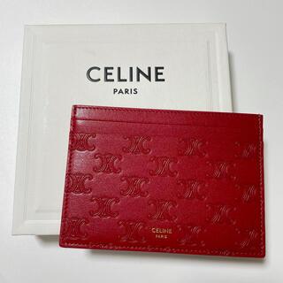 セリーヌ(celine)の【新品未使用】CELINE セリーヌ トリオンフ カードケース 名刺入れ(名刺入れ/定期入れ)