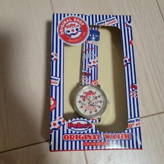 フジヤ(不二家)のペコちゃんオリジナル腕時計(キャラクターグッズ)