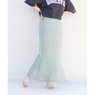 ディスコート(Discoat)のDiscoat ラメシアーマーメイドスカート(ロングスカート)