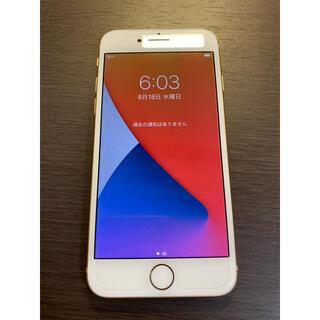 アイフォーン(iPhone)の超美品 simフリー iPhone8 64GB ゴールド シムフリー(スマートフォン本体)