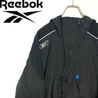 リーボック(Reebok)の●Reebok● アメリカ古着 ハーフジップ ポリ ジャケット ブラック メンズ(ナイロンジャケット)