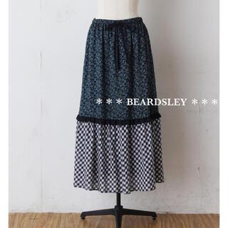 ビアズリー(BEARDSLEY)の新品 BEARDSLEY ビアズリー プリント ロングスカート(ロングスカート)