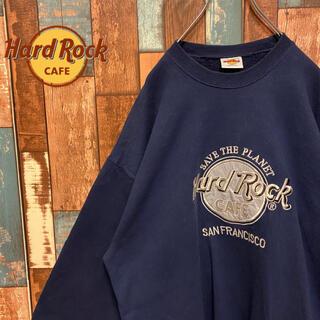 ロックハード(ROCK HARD)の【USA製】ハードロックカフェ トレーナー刺繍ロゴ ビッグロゴ サンフランシスコ(スウェット)