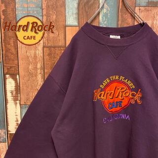 ロックハード(ROCK HARD)の【USA製】ハードロックカフェ トレーナー大人気 刺繍ロゴ ビッグロゴ(スウェット)