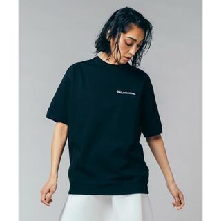 ダブルスタンダードクロージング(DOUBLE STANDARD CLOTHING)の新品 ダブルスタンダードクロージング ESSENTIAL/五分袖ロゴTシャツ(Tシャツ(半袖/袖なし))