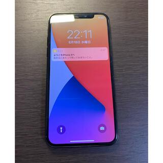 アイフォーン(iPhone)の美品 simフリー iPhoneX 64GB スペースグレー シムフリー(スマートフォン本体)