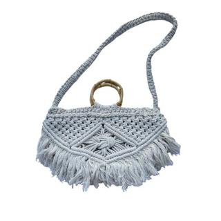 シールームリン(SeaRoomlynn)の新品 バリ島 マクラメ編み ショルダーハンドバッグ(ハンドバッグ)