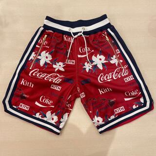 *美品KITH coca cola Mesh Hawaii short*(ショートパンツ)