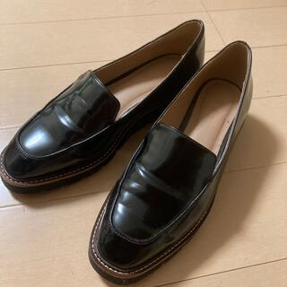 プラステ(PLST)のPLSTフェイクローファーL黒(ローファー/革靴)
